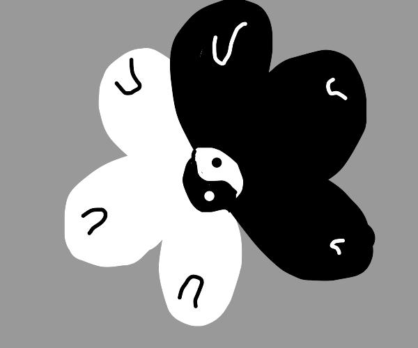 ying yang flower