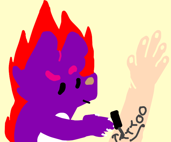 when ur tattoo artist is furry, but also hot