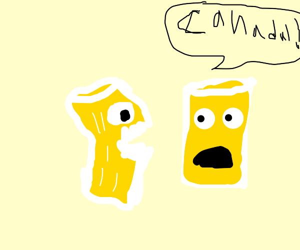 Cannibalistic glass of lemonade