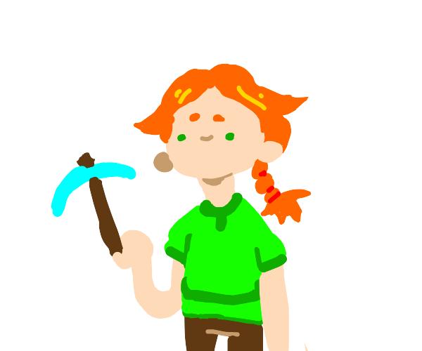 Alex from minecraft