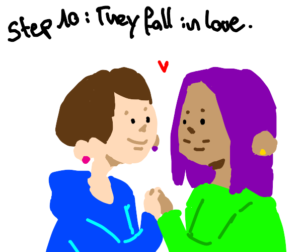 Step 9: Lesbian confessed to a girl