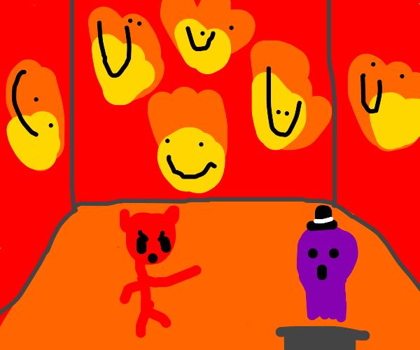 purple ghost sneaks to hell