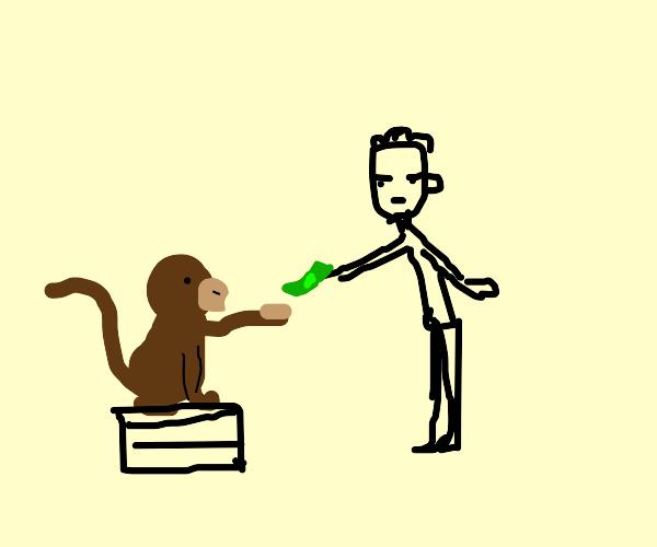 Monkey wants his money