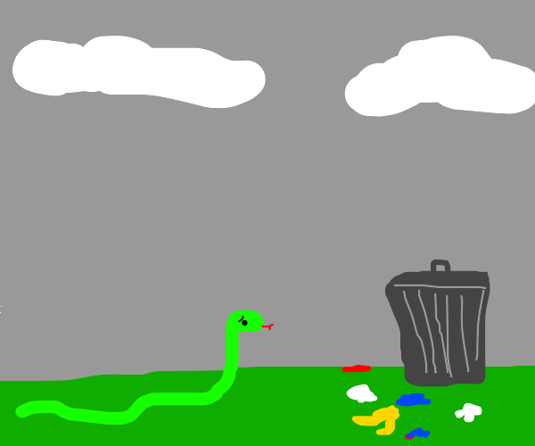 Snake finds litter