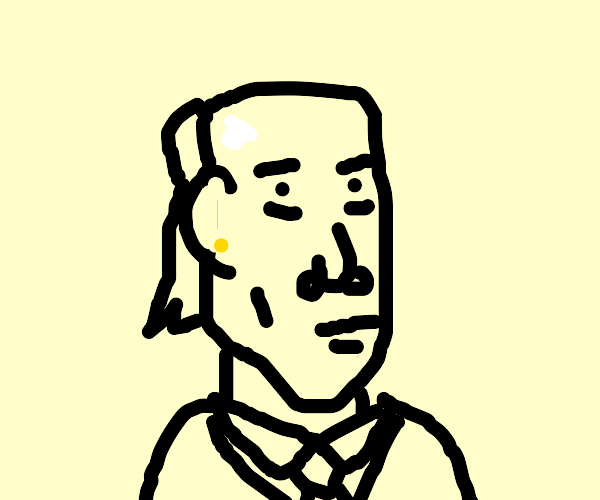 a very detailed drawing of a man