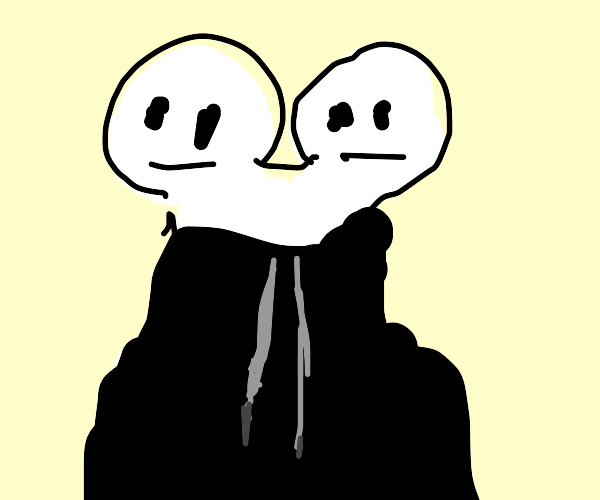 conjoined twins sharing a dual hoodie