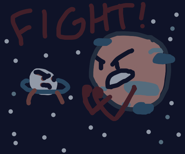 Planets fight