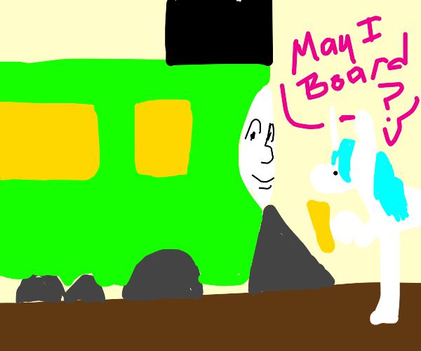 Unicorn gets a Train (No, not Thomas) to stop