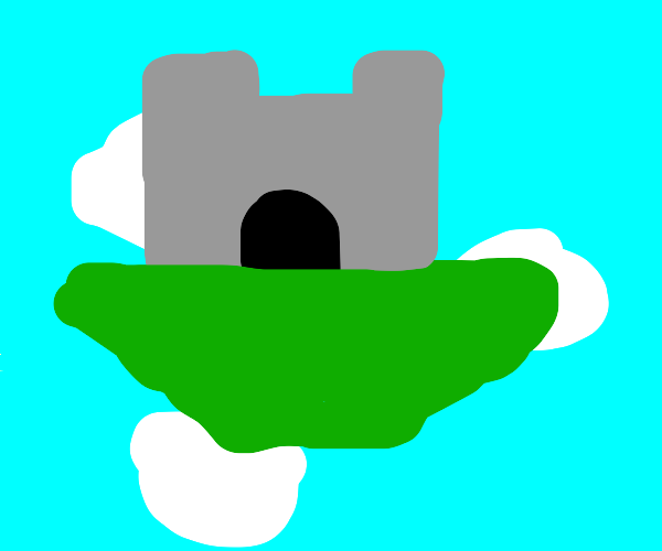 castle on a island in the sky