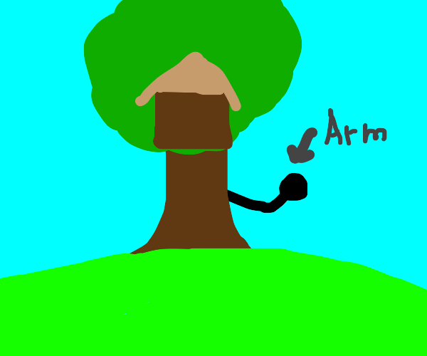 treehouse with an arm