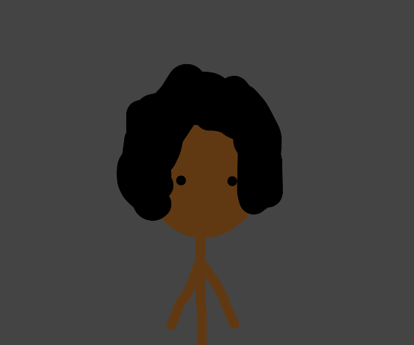 black person with an afro