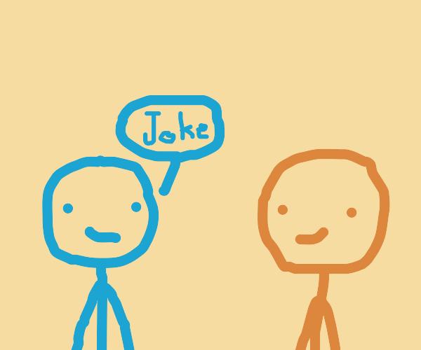 boy telling joke