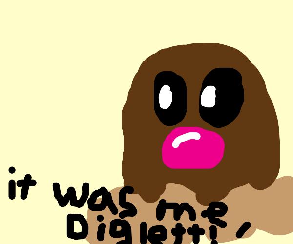 diglett(pokemon) jojo-fied