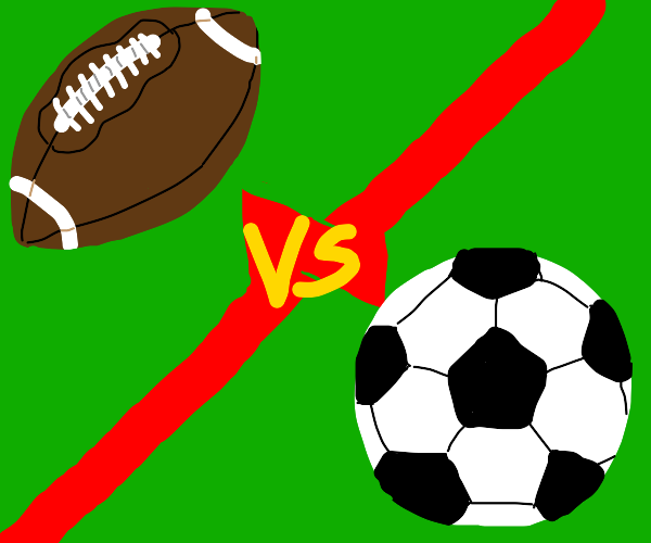 American football vs. soccer/football