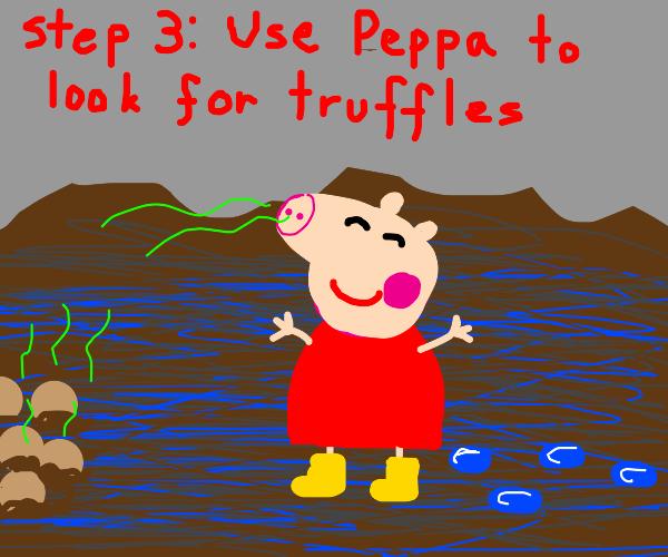 Step 2: get peppa pig after it rains