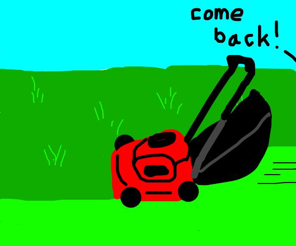 Self mowing lawn mower