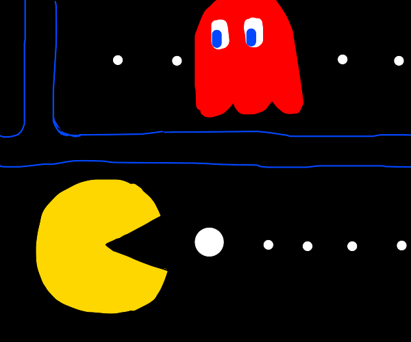 pacman and ghostie