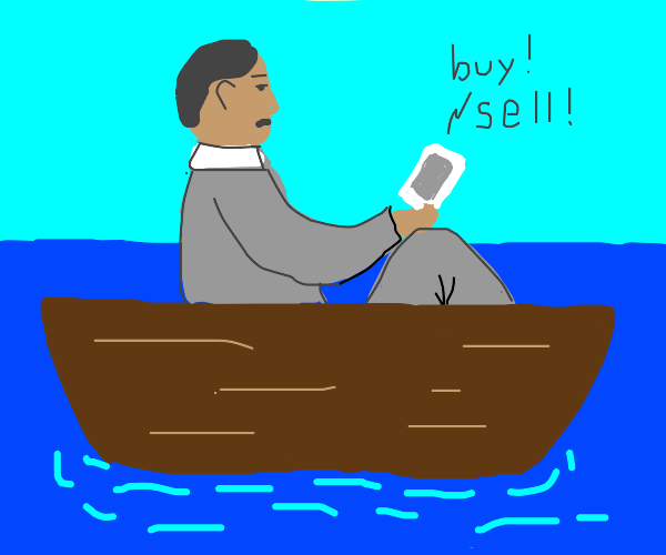 Investor on a Boat