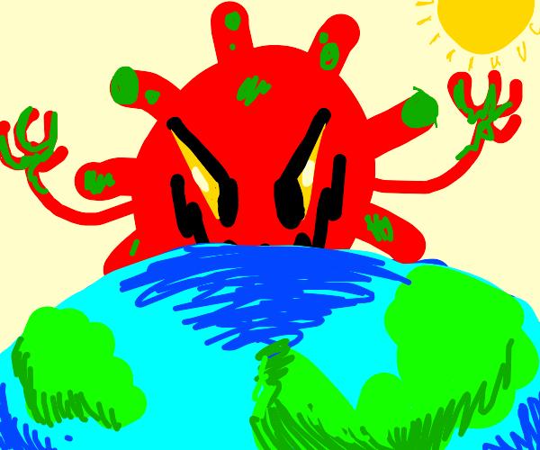 corona virus rules the world