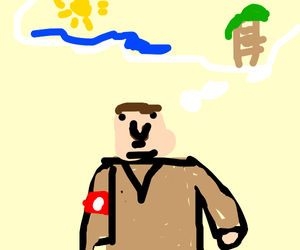 Hitler dreams of going on the beach