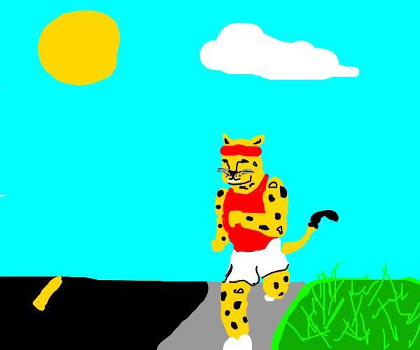 Leopard Jogging