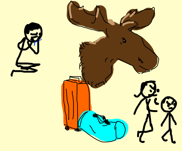 I can't believe my moose is divorcing me