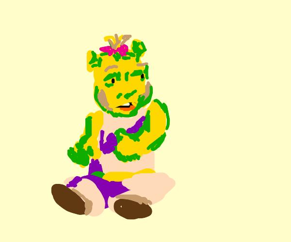 Girl related to Shrek