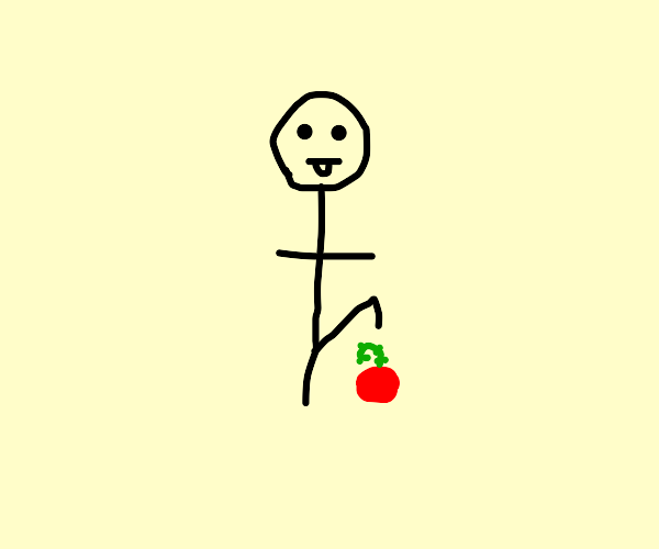 Stepping on a tomato