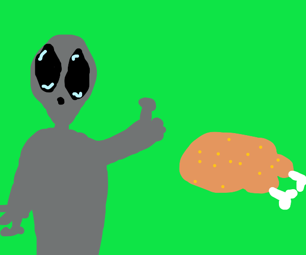 Aliens agree that Turkey is good human food