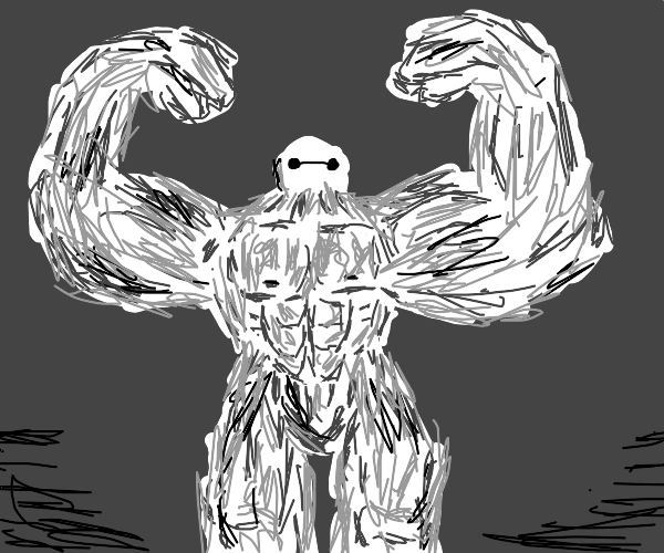 Strong and buff Baymax