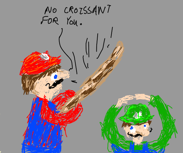French Mario beats Luigi with a beget
