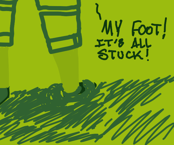 Leg stuck in hole
