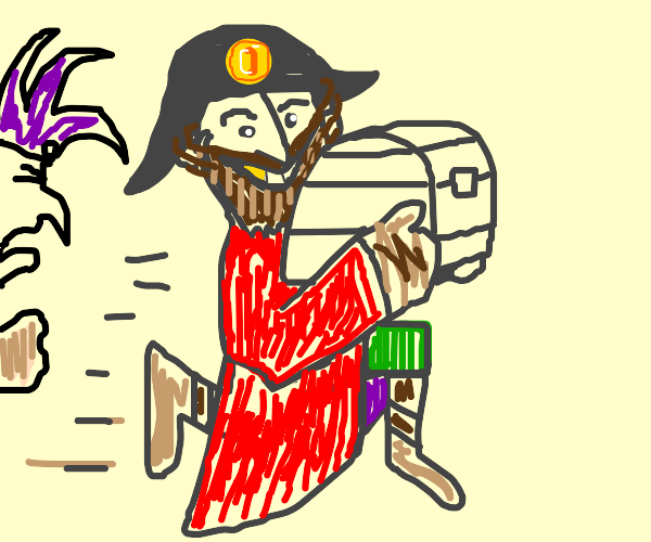 Pirate steals jester's booty