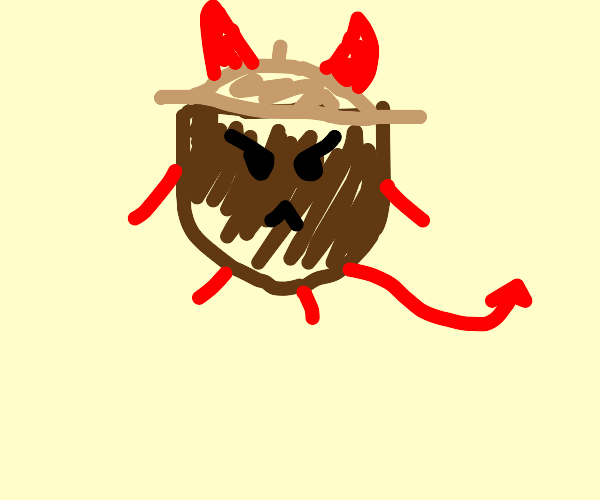 angry nut demon