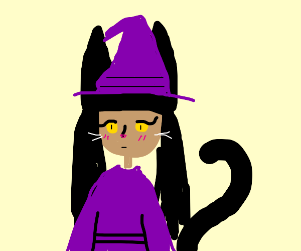 A catgirl witch
