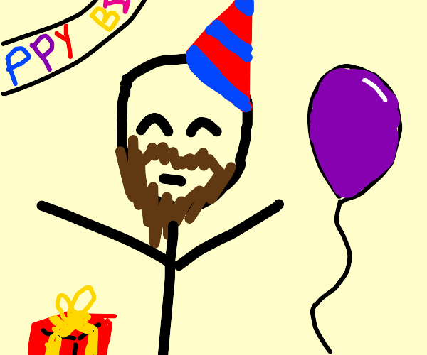 Bearded Birthday Boy