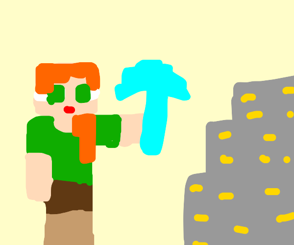 Alex goes mining