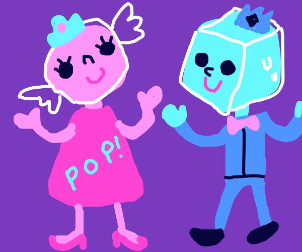 Princess Bubblegum and Ice King