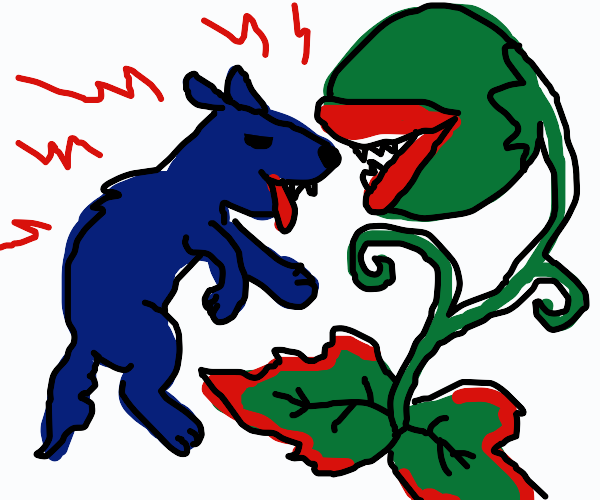 blue wolf vs plant creature