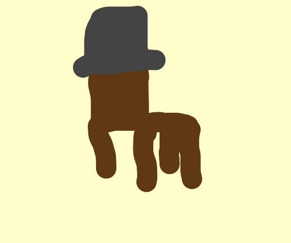 Chair wearing a Hat