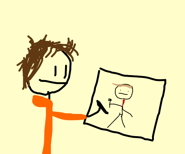 Weatherman in a Drawception panel