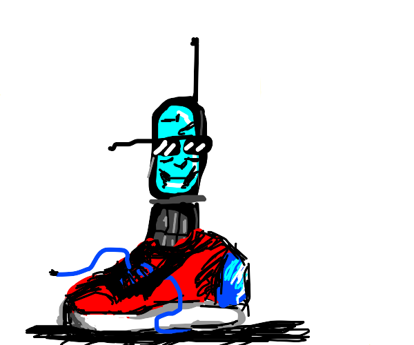 Telephone wearing Shoes