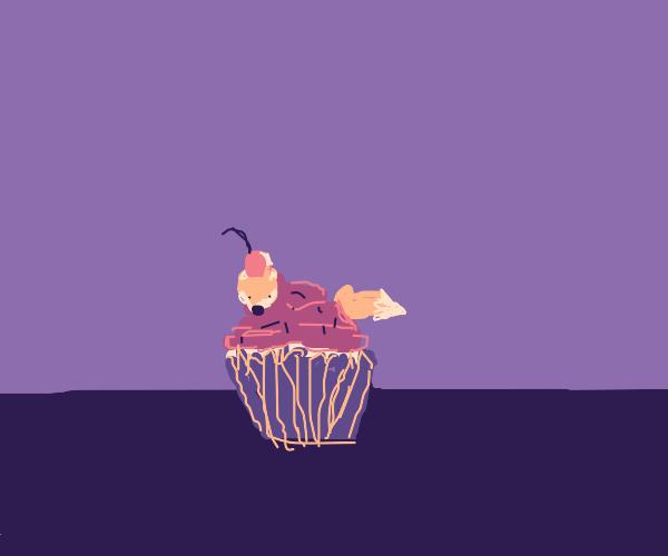 Fox cupcake