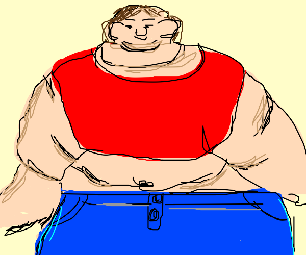 Extremely fat person