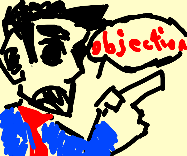 Phoenix Wright makes an objection