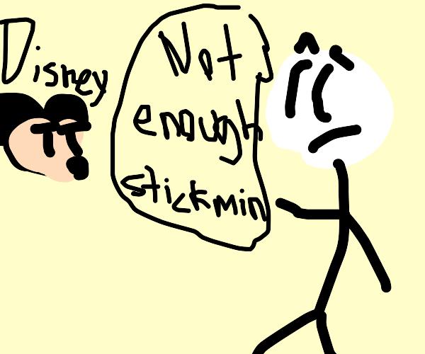 Henry Stickman Criticizes Disney Studios