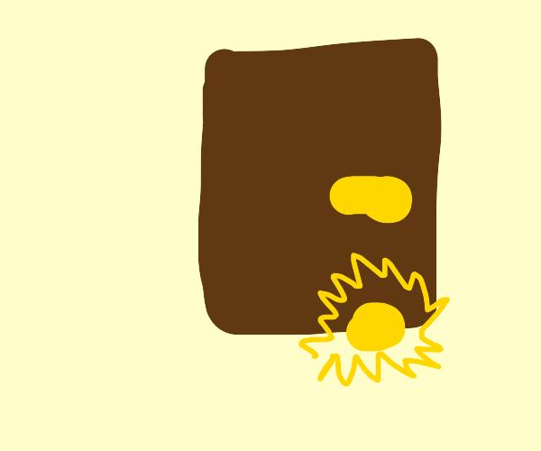 Golden doorstop