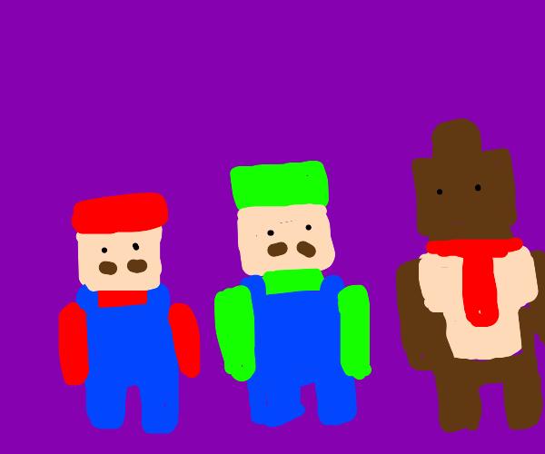 Some pixel nintendo character