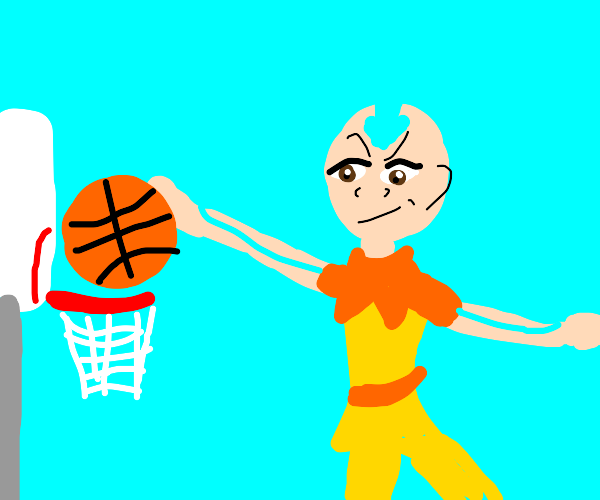 Avatar the Last Airbender dunking basketball