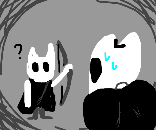 The Knight (Hollow Knight) asks about bows